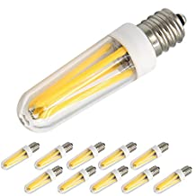 McDen® E12 LED Bulbs Filament Candelabra Light Bulb, 40W Mini Incandescent Bulb Replacement for T3/T4 C7/S6, Indoor Decorative Lighting T3/T4, Warm White 3000K, Pack of 10 Bulbs
