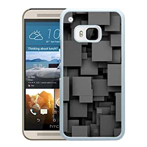 Square Party Dark Pattern (2) Durable High Quality HTC ONE M9 Phone Case