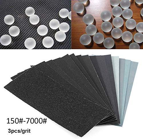 150-7000 Grit Grinding Polishing Abrasive Sanding Paper Sheet Wet//Dry Sandpaper