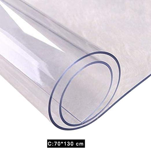 LyhomeO PVC Transparente Mantel De Plástico Impermeable Cubierta ...