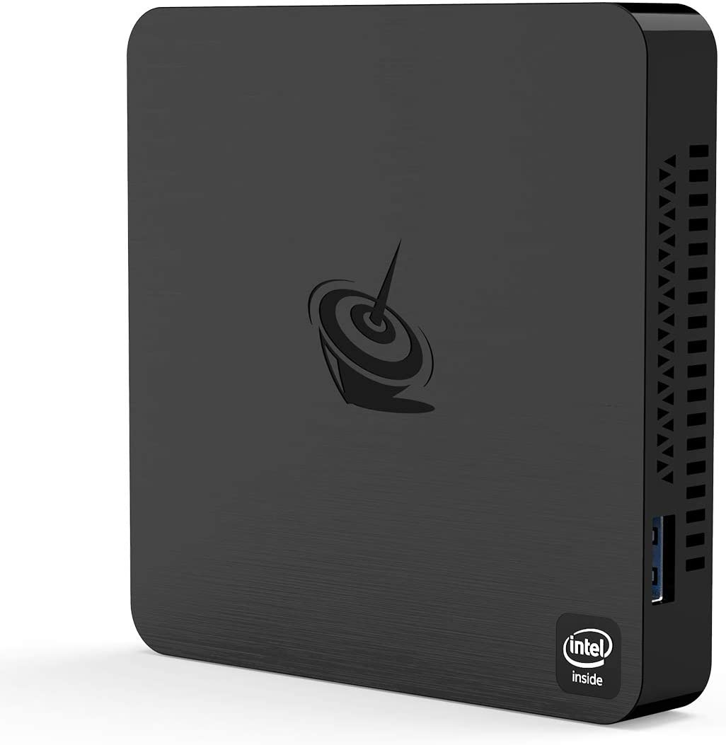 Mini PC Beelink T4,Windows 10 Intel Atom X5-Z8500 Quad Core Ultra-Quiet Mini Computer,4GB DDR/64GB eMMC,HDMI&DP Port,4K@30Hz HD,2.4G+5G WiFi,Support Auto Power On, PXE Boot, WOL, RTC Wake