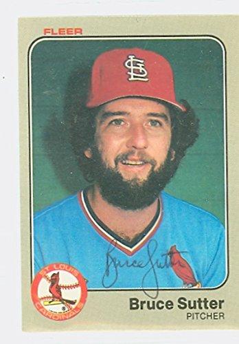 1983 St Louis Cardinals (Bruce Sutter AUTOGRAPH 1983 Fleer St. Louis Cardinals)