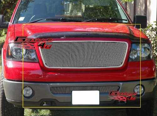 APS Compatible with 06-08 Ford F-150 Honeycomb Vertical Billet Grill Combo N19-V43976F