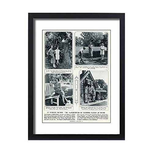 Framed 24x18 Print of Marchioness of Milford Haven at Lynden Manor (14407152) Duke House Divided