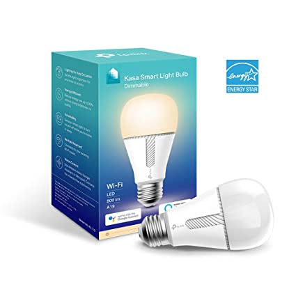 5e1ee433fdde Kasa Smart WiFi Light Bulb, Dimmable by TP-Link – No Hub Required, Works  with Alexa & Google (KL110)