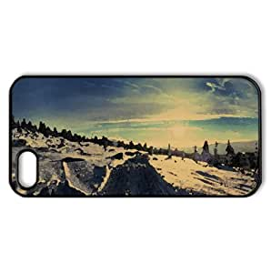 Snowmobile Trails Watercolor style Cover iPhone 5 and 5S Case (Winter Watercolor style Cover iPhone 5 and 5S Case) by lolosakes