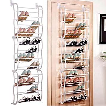 80d442a88b4bb ZEARO Rangement Chaussures étagère de Rangement Suspendue derrière de Porte  36 Paires Vêtements Jouets