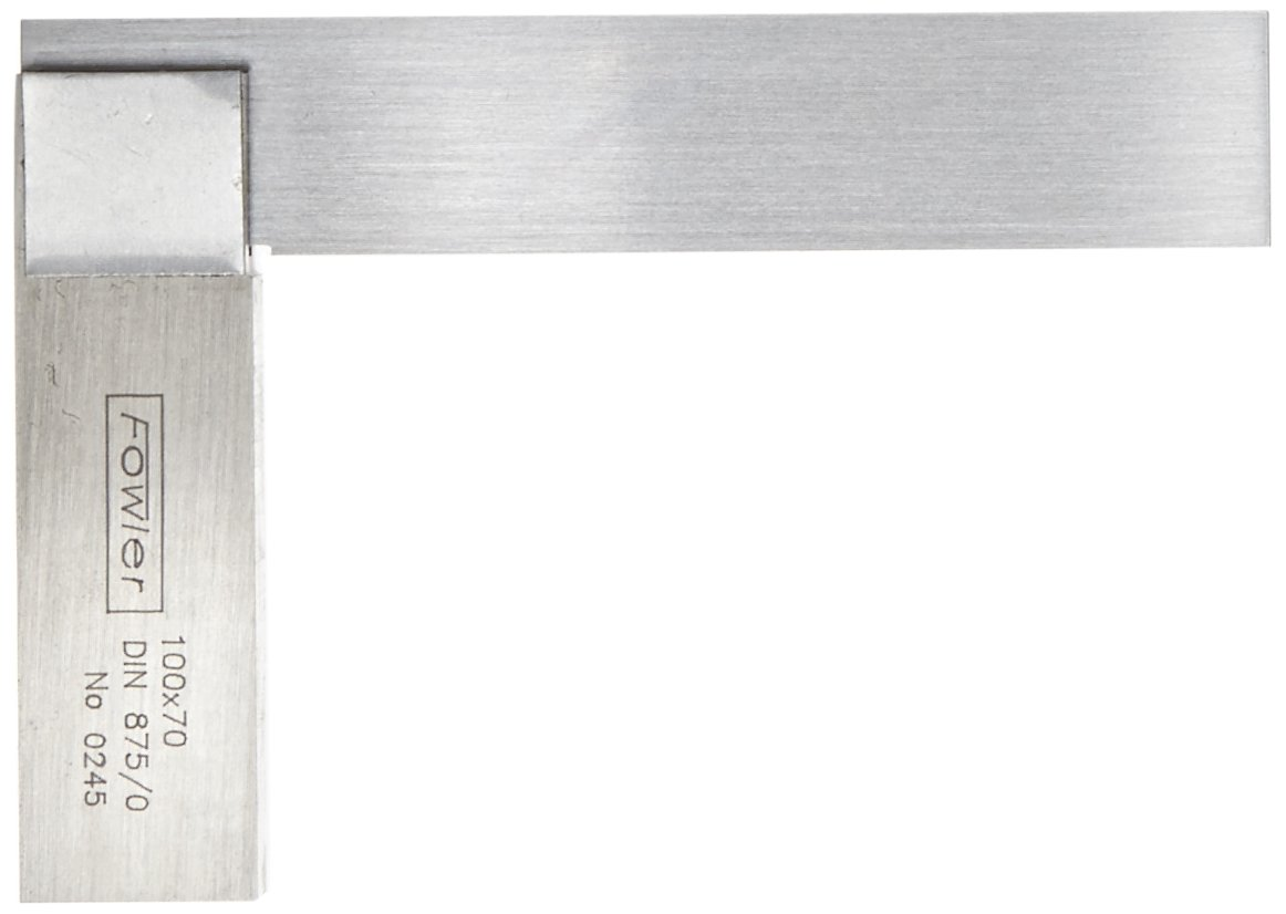Fowler 52-431-003 Steel Straight Edge Square, 3-1/8'' Blade Length, 2'' Beam Length