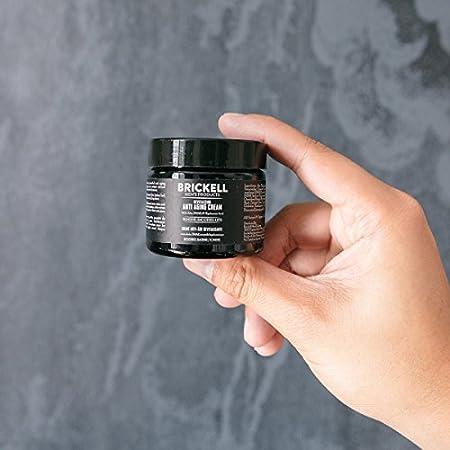Brickell Men's Products - Crema Antiedad para Hombre, Crema facial de noche antiarrugas natural y orgánica (Sin fragancia) – 59 ml