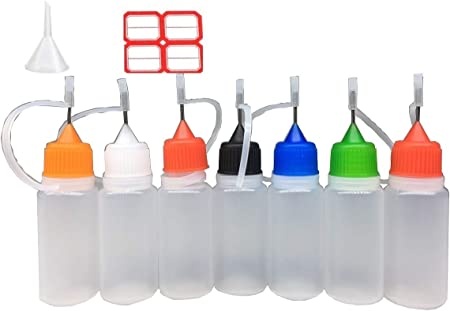 10ml X 10 Pack de agujas Eliquid Dripper Bottle con embudo y etiquetas, envase de plástico