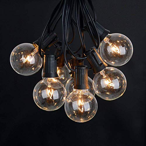 Outdoor String Lights, WWSUNNY G40 Light Bulbs Listed Waterproof String...