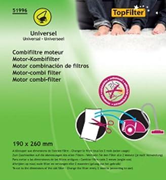 TopFilter 51996 Aspirador escoba Filtro accesorio y suministro de vacío - Accesorio para aspiradora (Stick vacuum, Filtro, Multicolor, 125 mm, 6 mm, ...