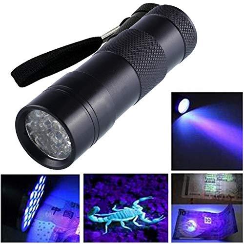 Ultra Violet Torch - Violet Black Mini Aluminum Uv Ultra Torch 12led Flashlight Blacklight Light Lamp 95 29cm 1025-365nm Bulb Warsun Watch 395 Lamp K9 Spinjitzu Gshock - G Violet Shock