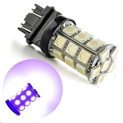 Ruiandsion 2pcs 12V 3157 LED Bulb 540 Lumens Super Bright 5050 27SMD Chipsets 3056 3156 3057 3157 LED Bulbs for Backup Reverse Light Brake Light Lamp,Purple: Automotive