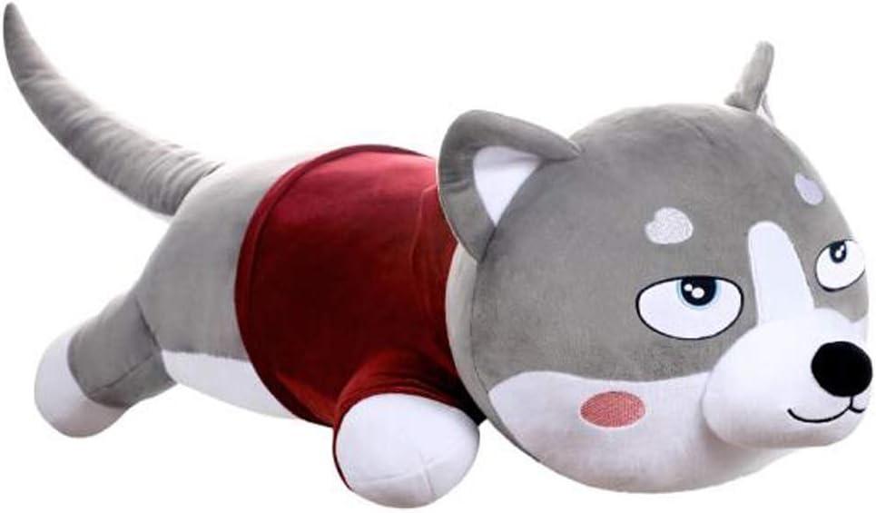 ぬいぐるみ犬ハスキー枕人形人形ロングストリップかわいい2 ha人形パンダ犬抱擁クマ女の子眠っている長い枕女の子誕生日バレンタインの日ギフト滞在かわいい1メートル、1.2メートル、1.5メートル、1.7メートル、2メートル、3メートル、 ( Color : Gray-b , Size : 1 meter )