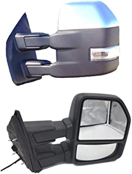 For 99-07 Ford Super Duty F250 F550 Power+Heated+Smoke Turn Signal Tow Mirrors
