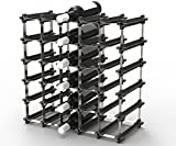 25 NOOK Wine Rack - Easy 2 Step Assembly - No Hardware Required - Capacity: 30 Bottles