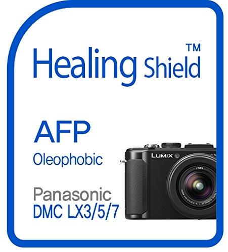 Healingshield Screen Protector Oleophobic AFP Clear Film for Panasonic Camera Lumix DMC-LX3/LX5/LX7 [2pcs] (Camera Lx7 Lumix)
