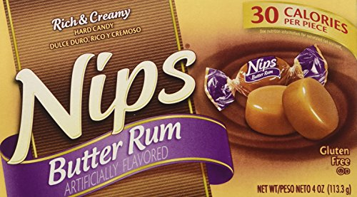 Butter Rum Nips Hard Candy 4 Oz. Pack of 2 (8 Oz.)
