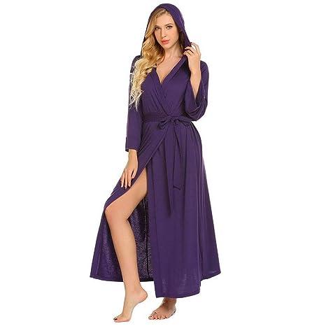 Tina Ropa de Dormir Mujeres Kimono Albornoz Largo con ...
