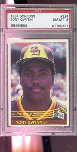 - 1984 Donruss #324 Tony Gwynn San Diego Padres NM-MT PSA 8 Graded Baseball Card