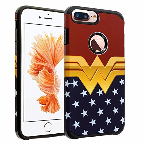 iPhone 7 Plus Case, DURARMOR Vintage Wonder Woman Case Hybrid Bumper ShockProof Slim Fit Armor Air Cushion Defender Drop Protection Cover Case for iPhone 7 Plus 5.5