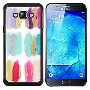 LECELL--Funda protectora / Cubierta / Piel For Samsung Galaxy A8 A8000 -- Pintura Flores polaco minimalista Petróleo --
