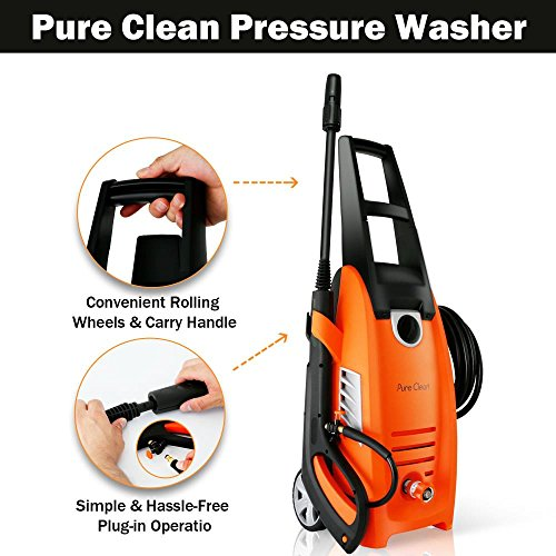 Serenelife Electric Pressure Washer-Powerful Heavy Duty 2000PSI Manual Adjustable High Low Cold Water Sprayer, Rolling Wheels-Power Wash Spray Clean Concrete Driveway Car Home SLPRWAS58 by SereneLife (Image #3)