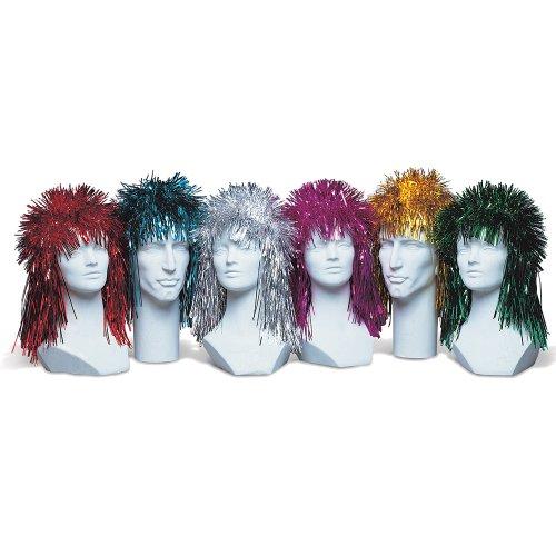 Punk Rock Foil Tinsel Wig, Assorted Colors]()