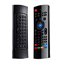Roll over image to zoom in 2.4G Air Mouse, LESHP 2.4G Fly Mouse Mini Wireless Keyboard Mouse Air Infrared Remote Learning For Android Smart TV Box G Box HTPC Mini PC Windows iOS MAC Linux PS4 Xbox 360