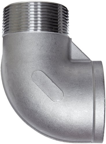 """Stainless Steel 304 Cast Pipe Fitting, 90 Degree Street Elbow, Class 150, 1/2"""" NPT Male X Female"""