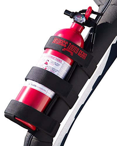Badass Moto Gear Adjustable Roll Bar Fire Extinguisher Holder for Jeeps - Durable Stitching. Easy Install. for Jeep Wrangler, Unlimited, CJ, JK, TJ, Rubicon, Sahara, Sport. Extinguisher not Included. (Best Extinguisher For Gas Fire)