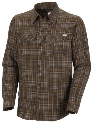 Columbia Men's Silver Ridge Plaid Long Sleeve Shirt, Marsh, X-Large