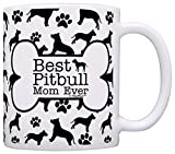 Dog Owner Gifts Best Pitbull Mom Ever Paw Pattern Gift Coffee Mug Tea