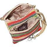 The SAK Classic Double Zip Wristlet,Brown Sparkle,One Size, Bags Central