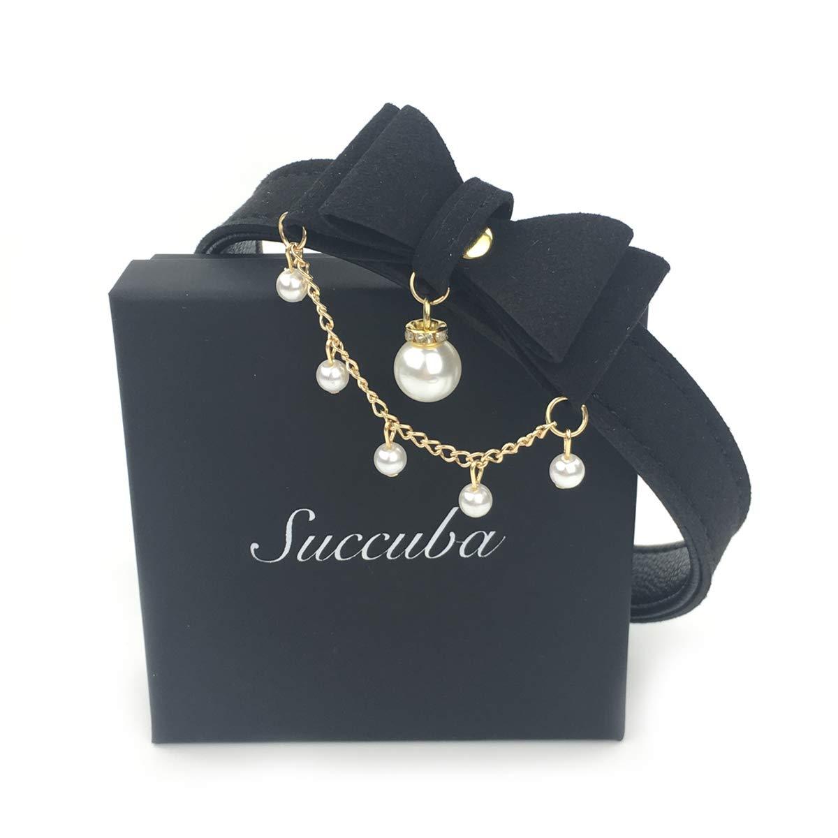 Intimate Lover Bell Choker Collar Necklace Lolita Bow Collar Cat Kitty Velvet Necklace