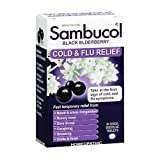 Sambucol Cold and Flu Relief Tablets, Black Elderberry, 30 Count