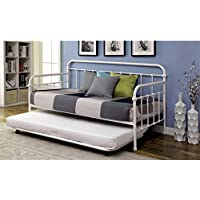 Furniture of America Gordon Twin Metal Trundle in Vintage White