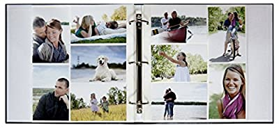 MCS MBI Library Collection 400 Pocket 4x6 Photo Album in Black