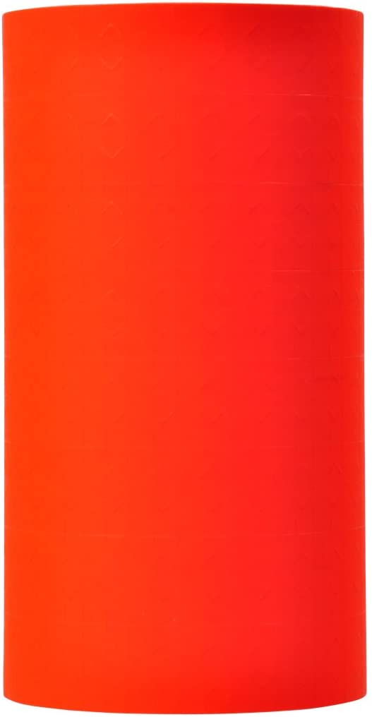 Fluorescent Red Pricing Labels to fit Monarch 1131 Pricers. 8 Rolls with 1 Free Ink Roller.