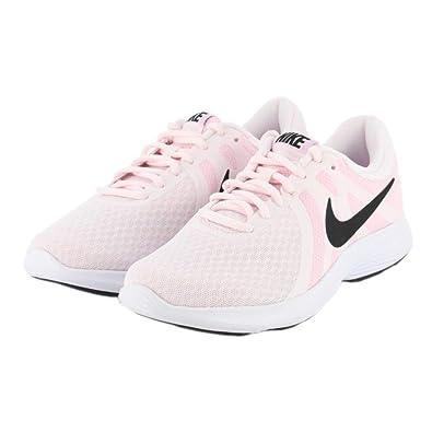 b455b5dc45d4d Nike Women s Revolution 4 Pale Pink Black Running Shoes (908999-604 ...