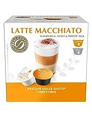 قهوة لاتيه ماكياتو من ريل كوفي - 16 كبسولة