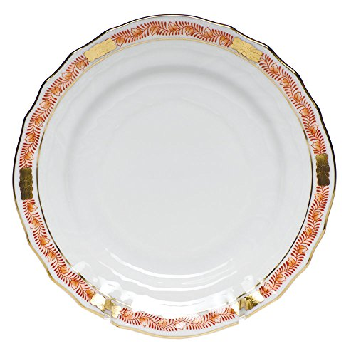 Bouquet Bread Plate - Herend Chinese Bouquet Garland Rust Bread and Butter