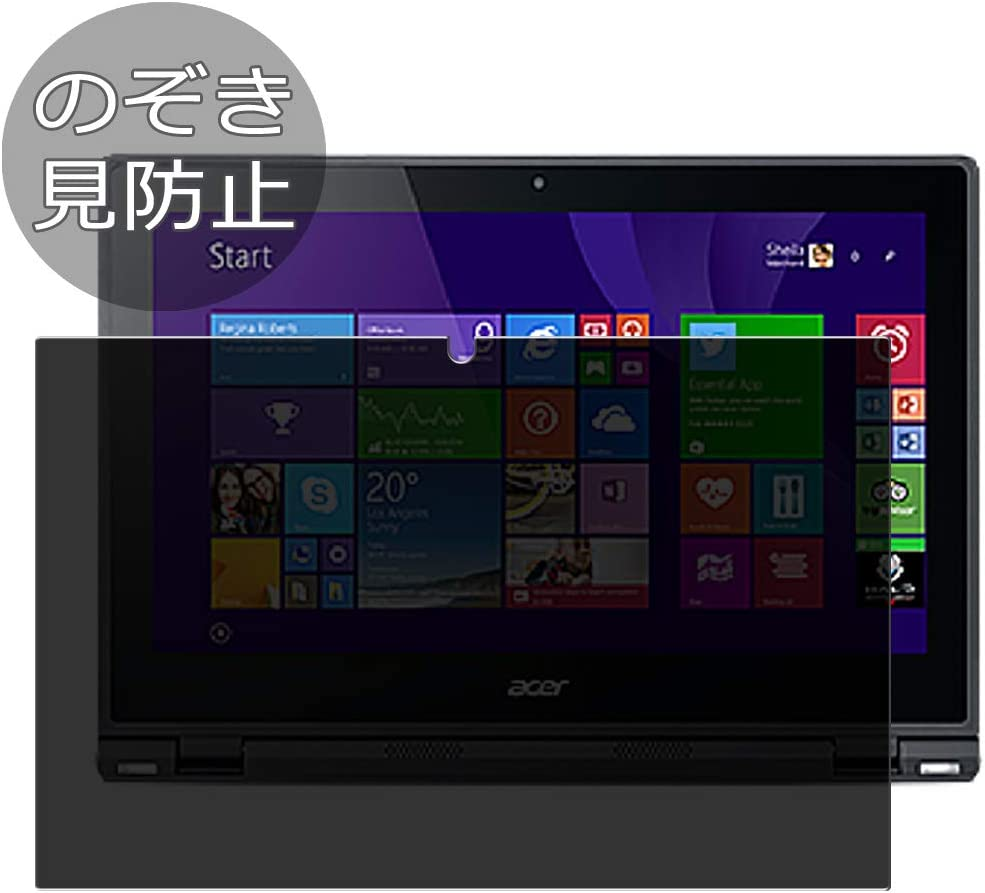 """Synvy Privacy Screen Protector Film for Acer Aspire Switch 12 SW5-271 12.5"""" Anti Spy Protective Protectors [Not Tempered Glass]"""