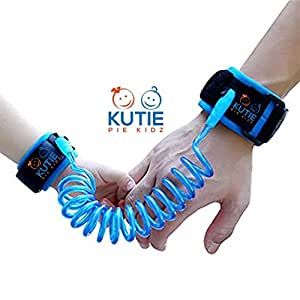 KUTIE PIE KIDZ Child Anti-Lost Wrist Link Safety Walking Hand Belt Strap for Toddlers and Kids, Rope/Leash/Harness, 6 foot (Blue)