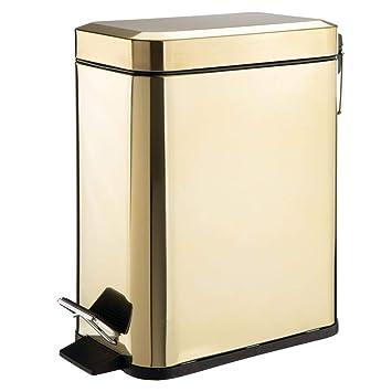Amazon.com: mDesign - Cesta de basura rectangular de 5 ...