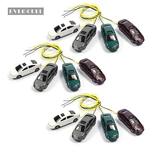 Evemodel EC100 12pcs Head Light Model car 1:87 Scenery HO 12V