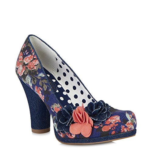 Eva Ruby Blau Schuhe Blau Shoo g8ww0HqB