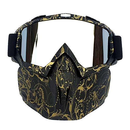 HYHMJ Motorcycle Goggles, Retro mask Goggles Off-Road Motorcycle Racing Goggles Outdoor Riding Glasses Skiing Goggles,C