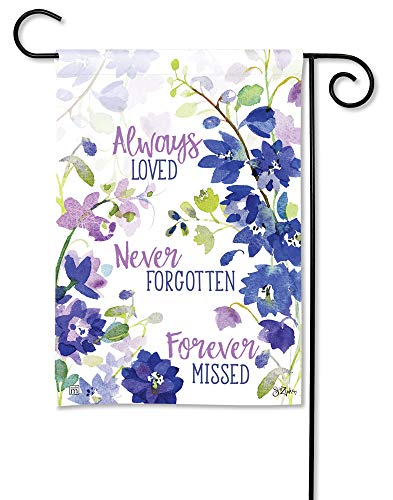 BreezeArt Studio M Forever Missed Decorative Memorial Bereavement Garden Flag - Premium Quality, 12.5 x 18 Inches
